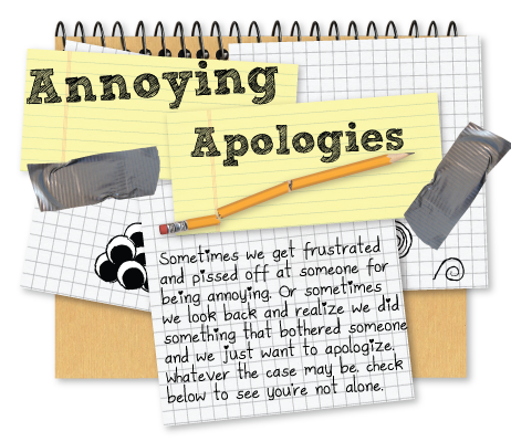Apologies to or from frustrated people